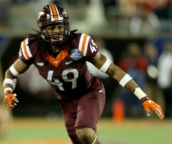 2018 NFL Draft: Tremaine Edmunds (Photo by Don Montague)