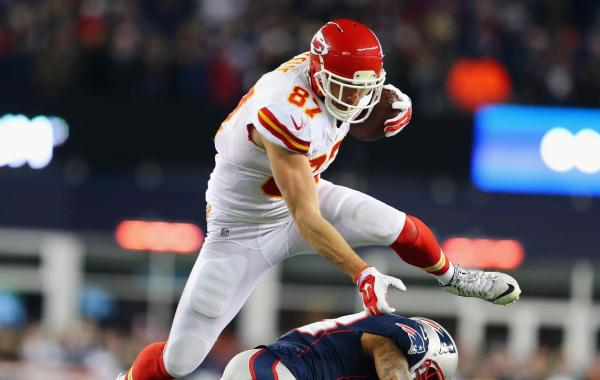 Fantasy Football Tight End Travis Kelce (photo credit: Getty Images, ELSA).