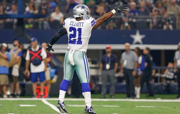 Ezekiel Elliott a Fantasy Football monster (photo credit: Andrew Dieb, Icon Sportswire).